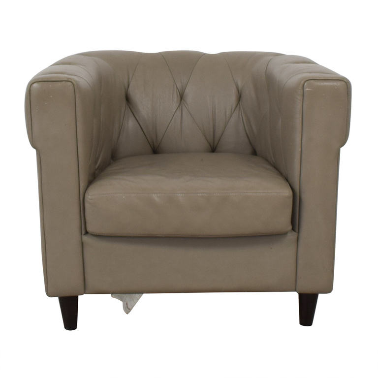 West Elm West Elm Leather Chair second hand