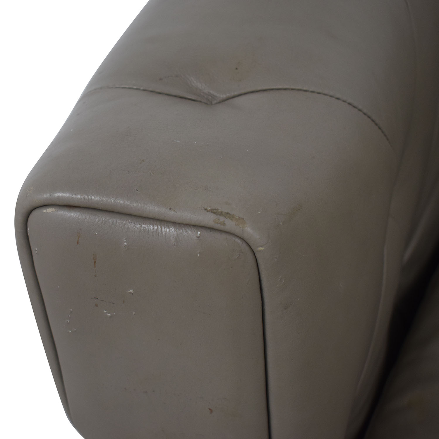 West Elm West Elm Leather Chair gray