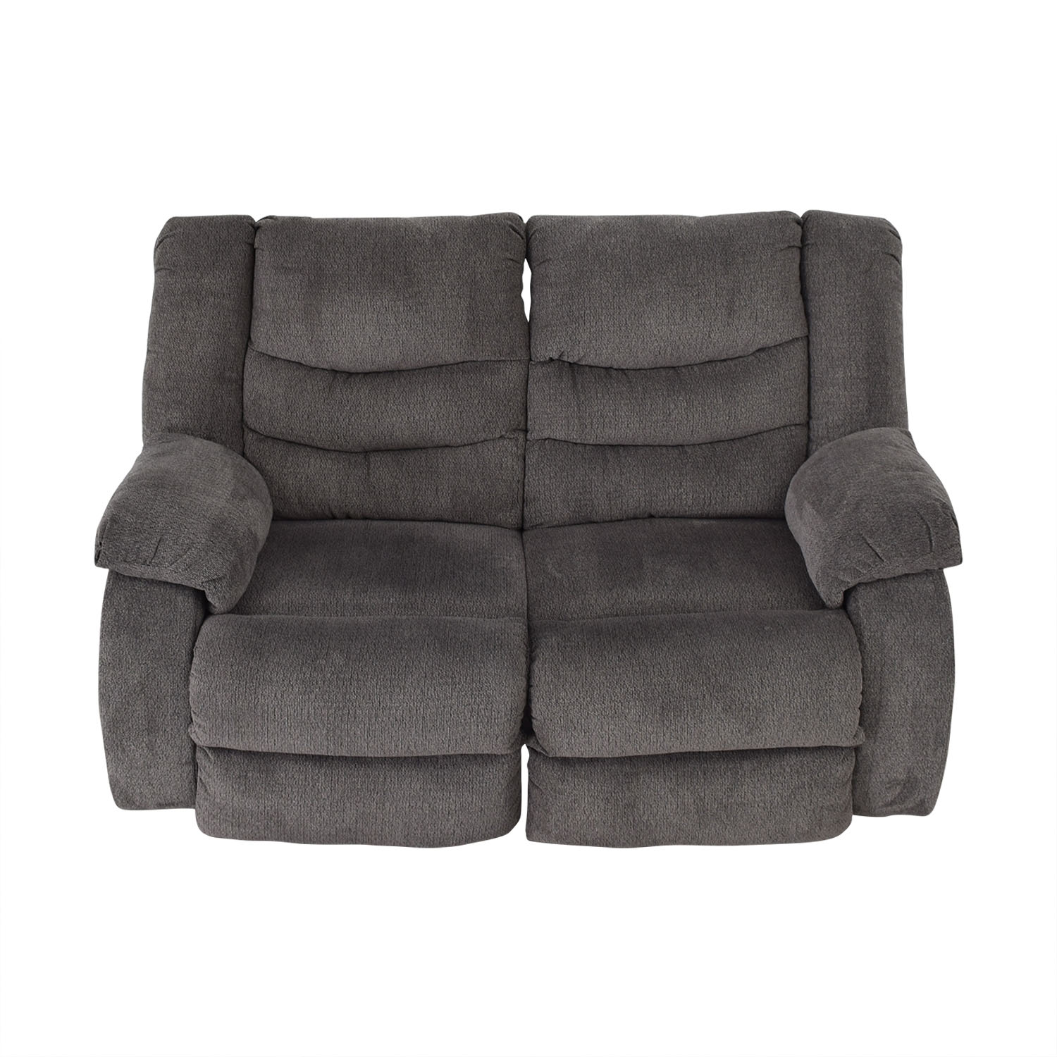 Ashley Furniture Ashley Furniture Gray Reclining Loveseat Dark Gray