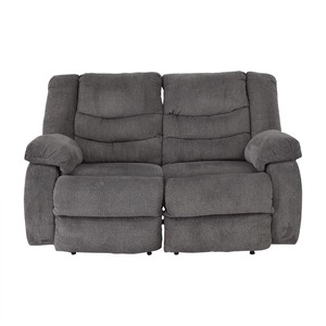 Ashley Furniture Gray Reclining Loveseat sale