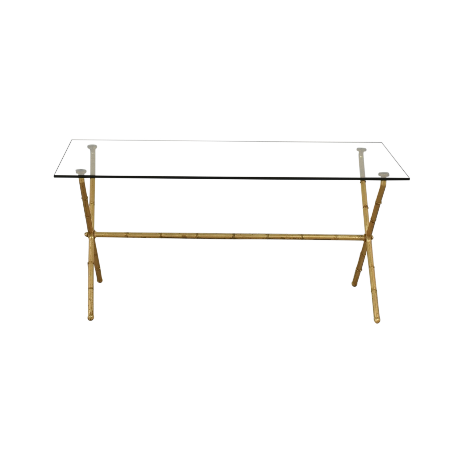 buy Glass and Brass Coffee Table