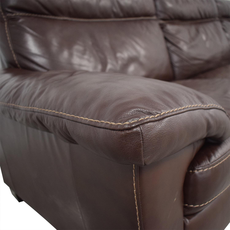Natuzzi Natuzzi Dark Brown Power Reclining Sectional Sofa brown