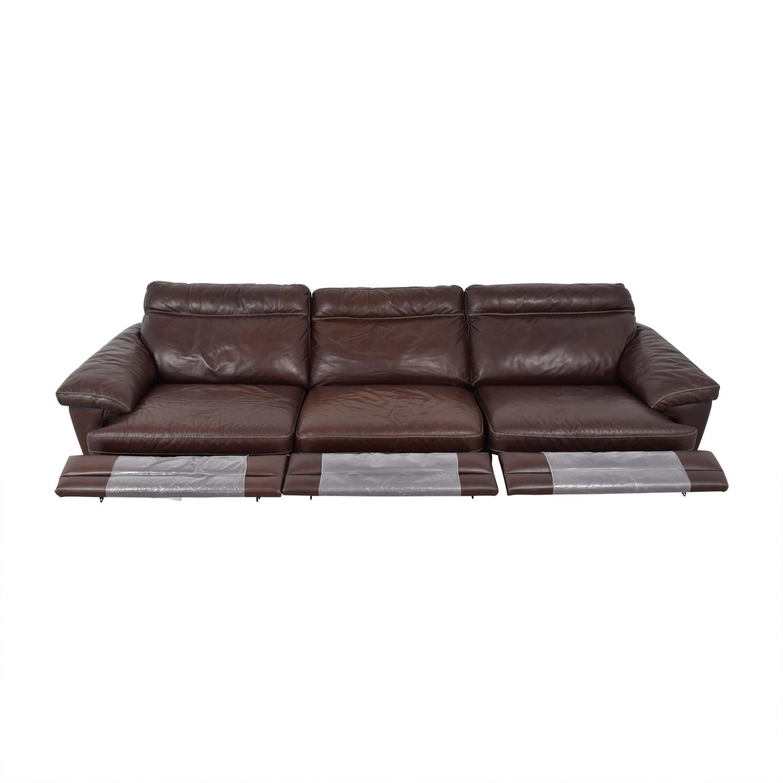 Natuzzi Dark Brown Power Reclining Sectional Sofa / Chairs