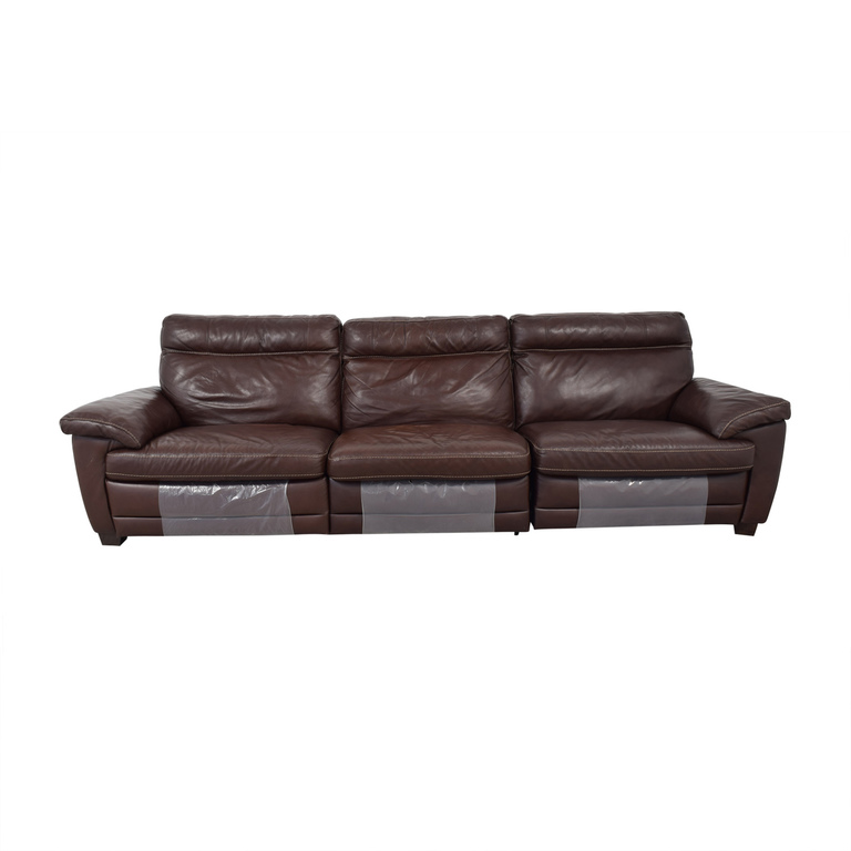 buy Natuzzi Dark Brown Power Reclining Sectional Sofa Natuzzi