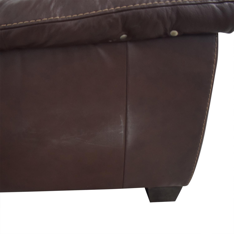 shop Natuzzi Natuzzi Dark Brown Power Reclining Sectional Sofa online