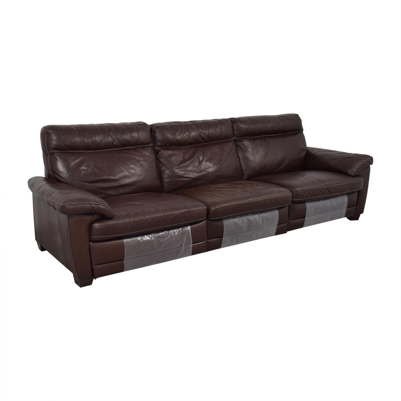 buy Natuzzi Dark Brown Power Reclining Sectional Sofa Natuzzi Chairs