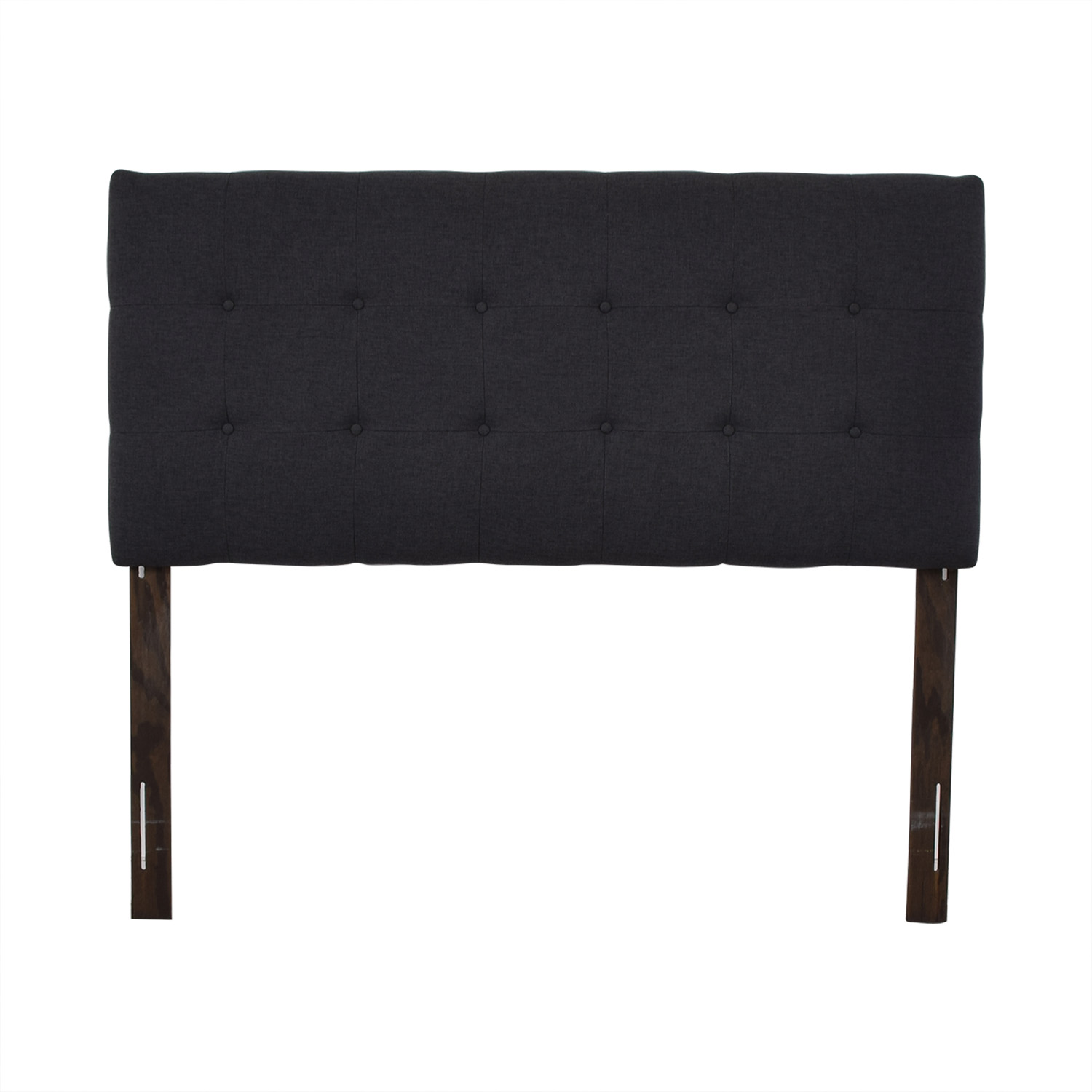 Bloomingdale's Gray Tufted Queen Headboard sale