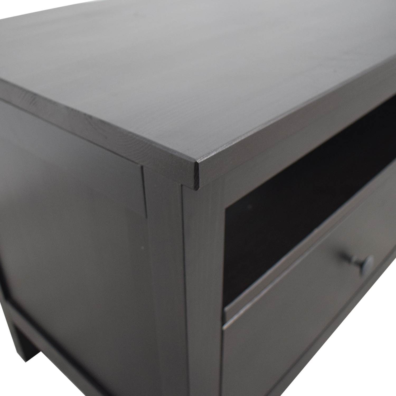 IKEA IKEA Hemnes Black TV Stand Storage