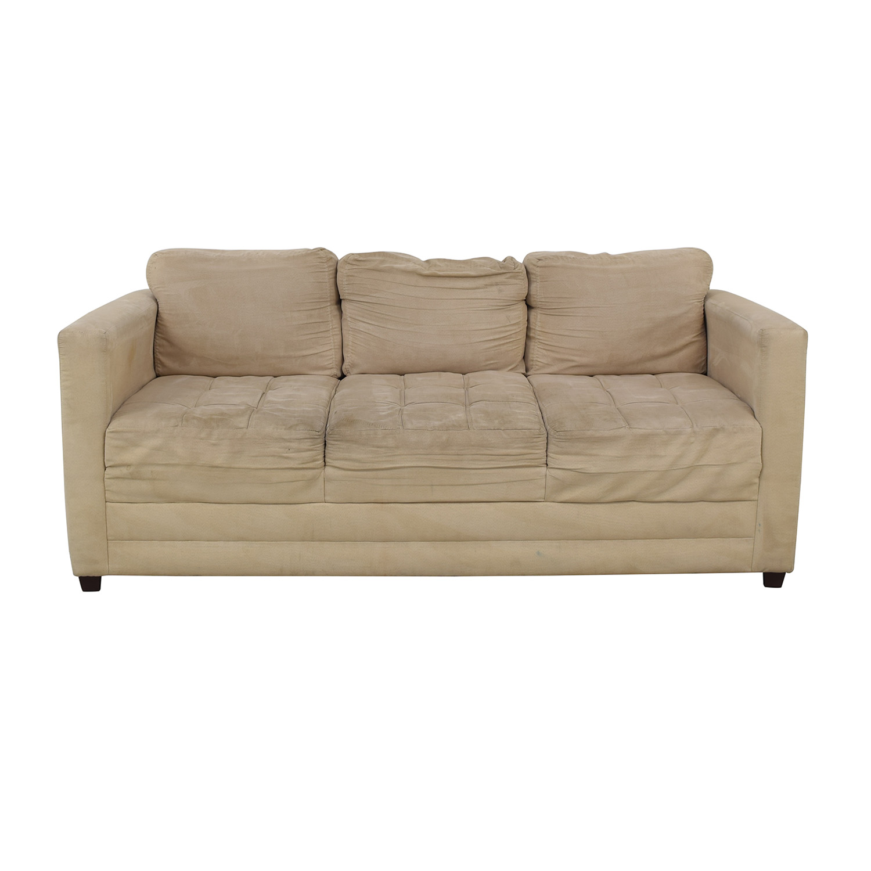 Gothic Cabinet Craft Gothic Cabinet Craft Beige Three-Cushion Couch nyc