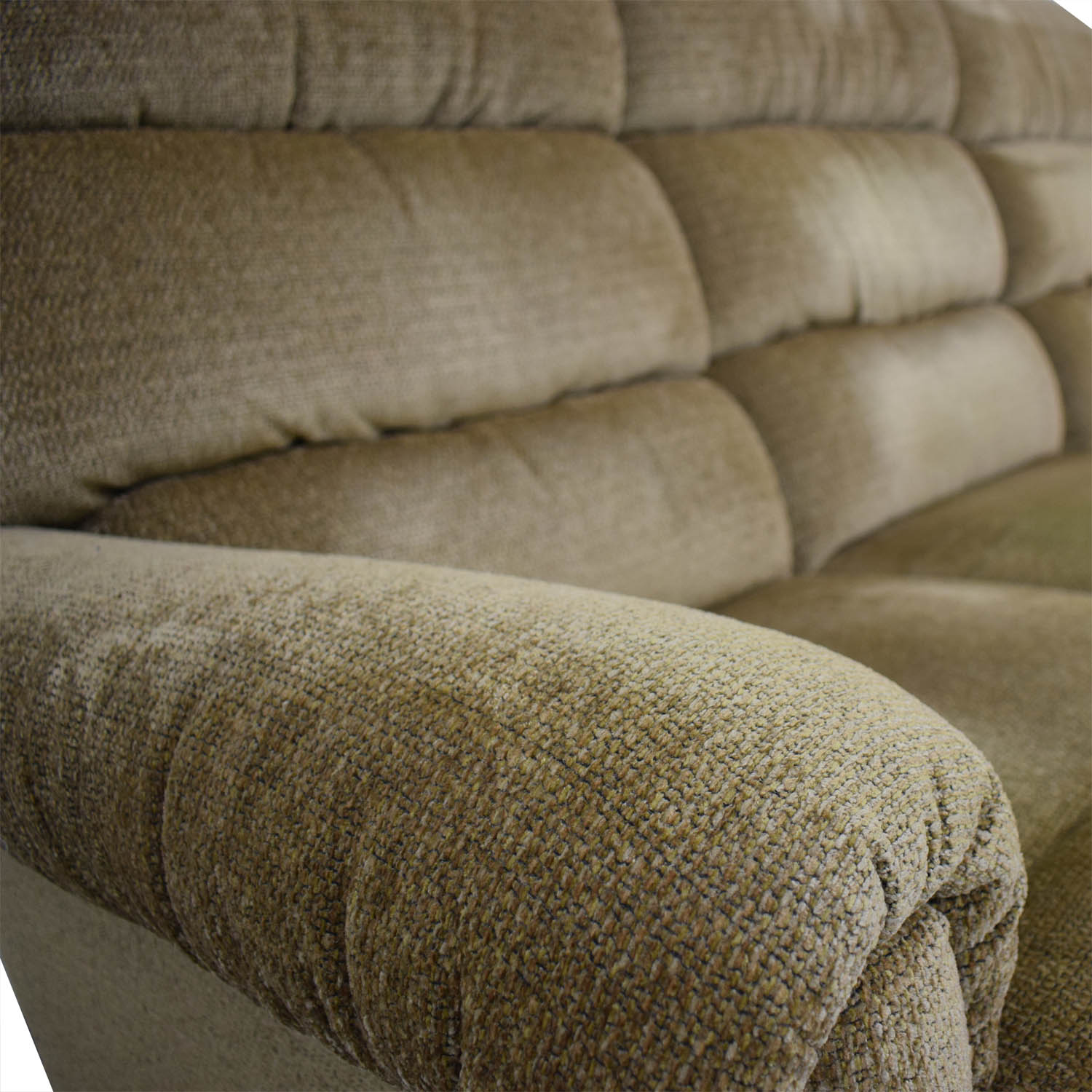 La-Z-Boy La-Z-Boy Tan Reclining Three-Cushion Sofa used