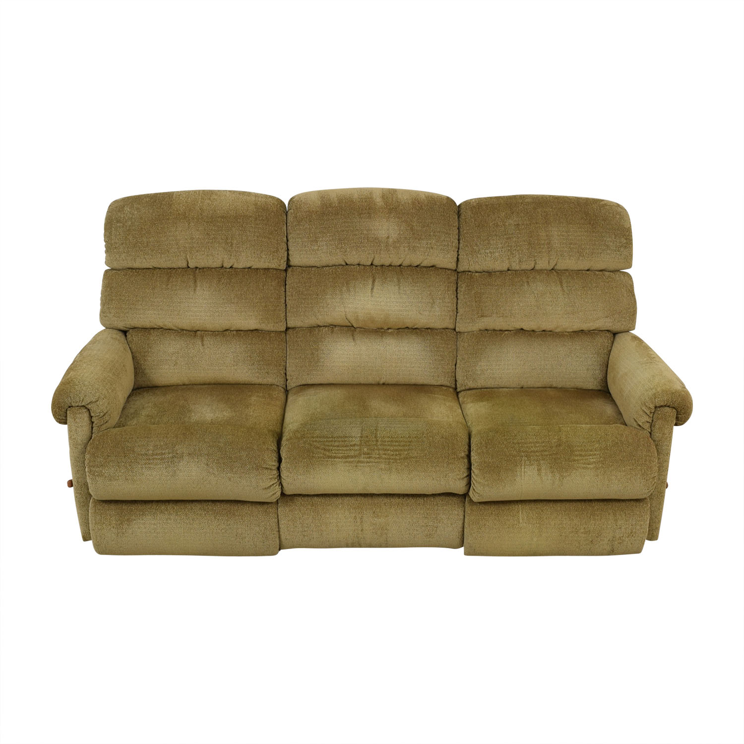 La-Z-Boy La-Z-Boy Tan Reclining Three-Cushion Sofa second hand