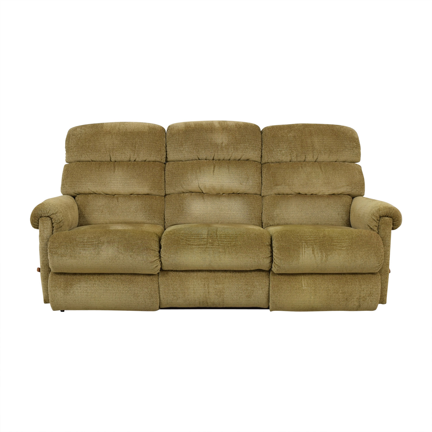 La Z Boy Sofa La-Z-Boy La-Z-Boy Tan Reclining Three-Cushion Sofa