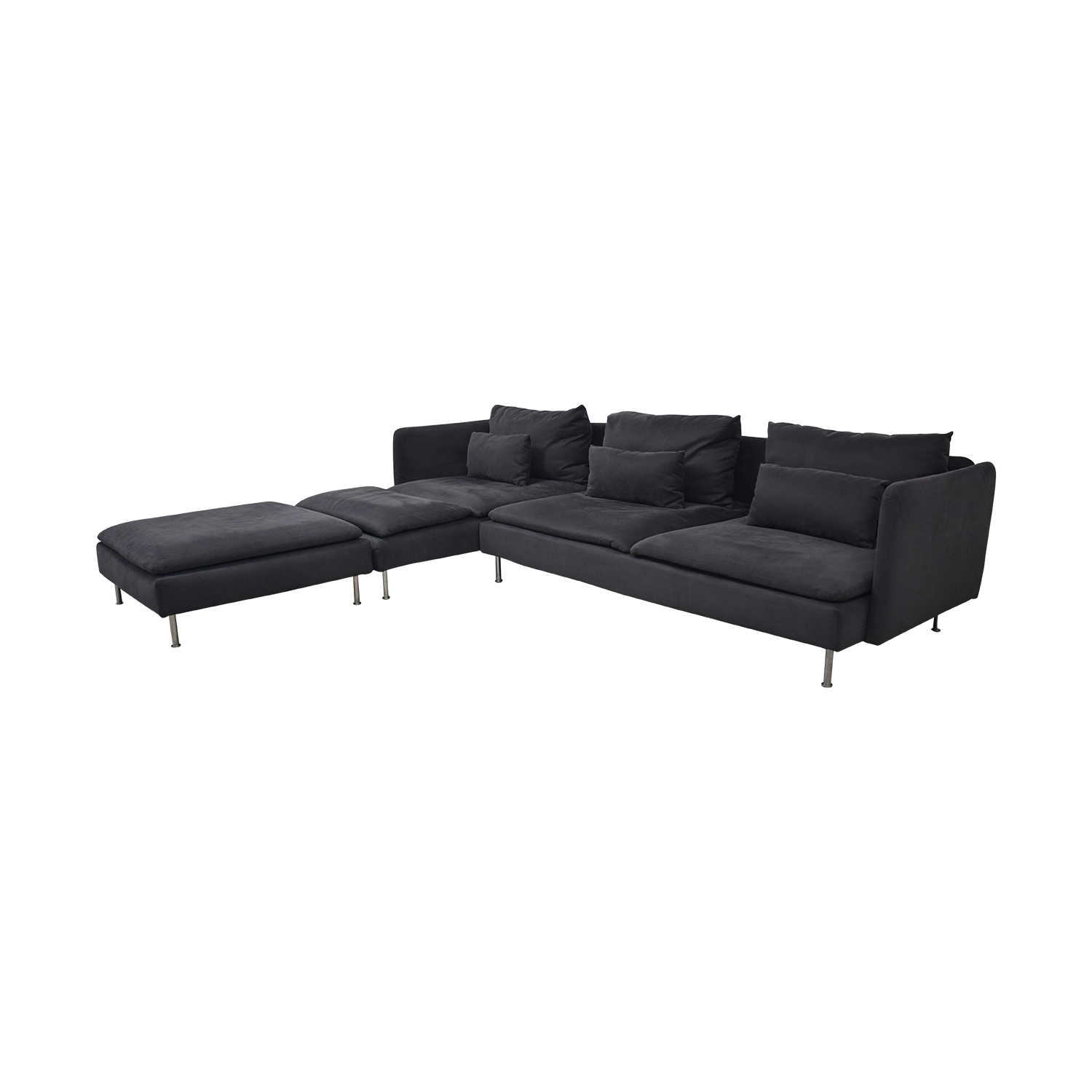 IKEA IKEA Charcoal Long Chaise Sectional coupon