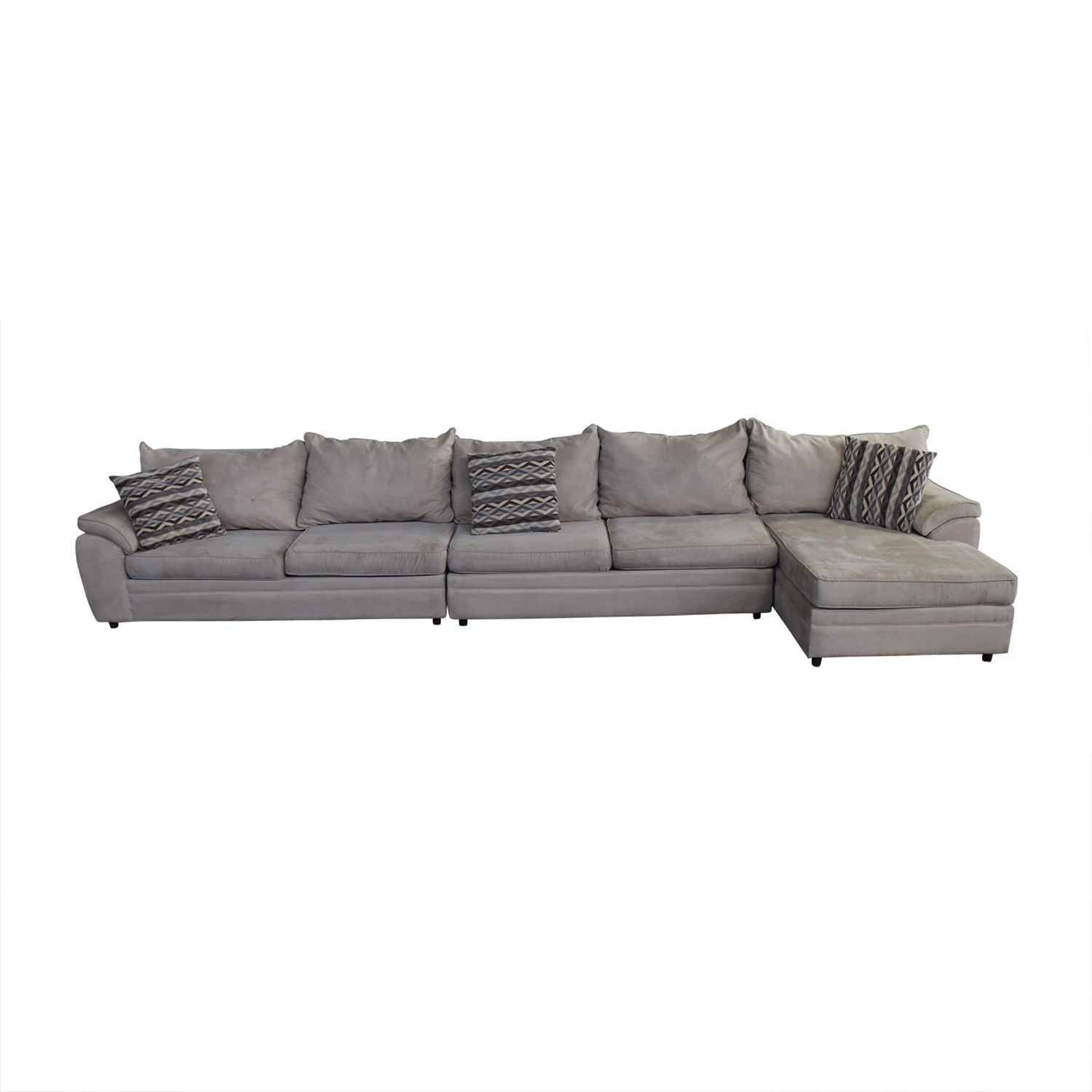Bob S Furniture Beige Microfiber Chaise Sectional Price