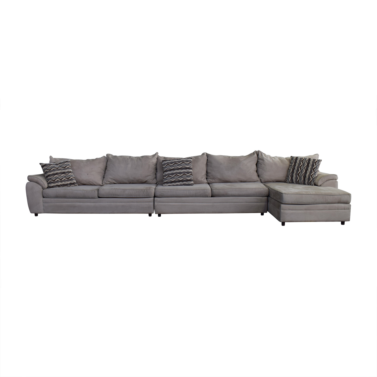 Bob's Discount Furniture Bob's Discount Furniture Beige Microfiber Chaise Sectional Sectionals