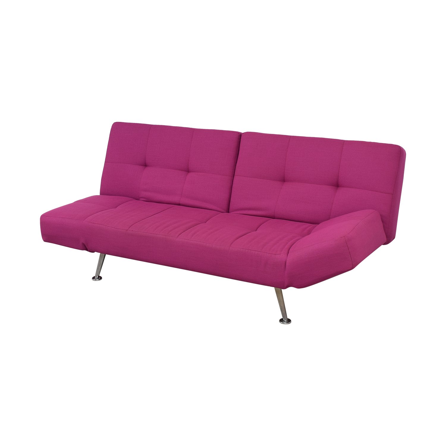 82 Off Lazzoni Lazzoni Magenta Tufted Sleeper Sofa Sofas