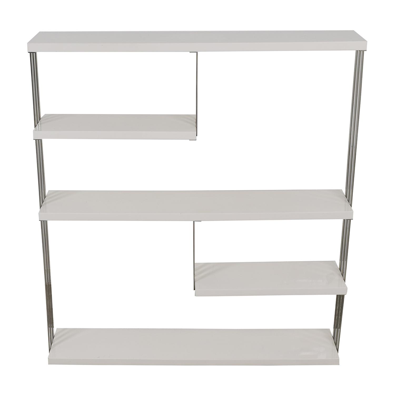 buy Lazzoni White and Chrome Book Stand Lazzoni Storage