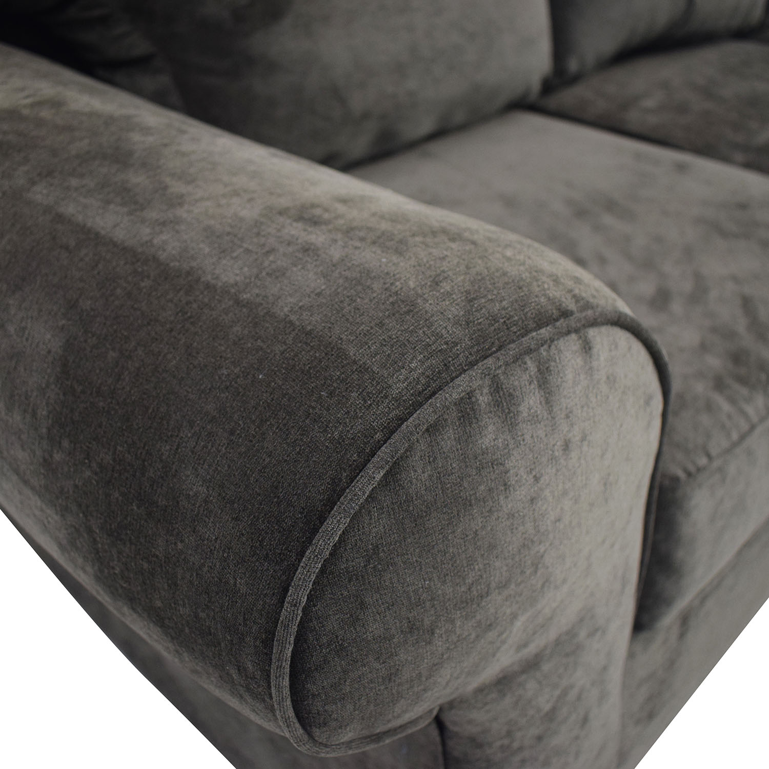 shop Raymour & Flanigan Raymour & Flanigan Grey Chaise Sectional online