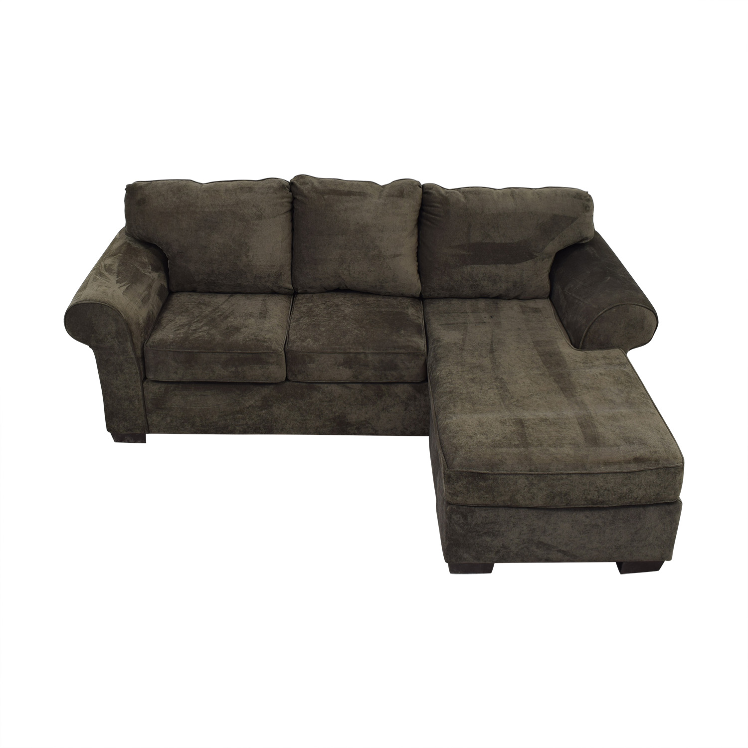Raymour & Flanigan Raymour & Flanigan Grey Chaise Sectional discount