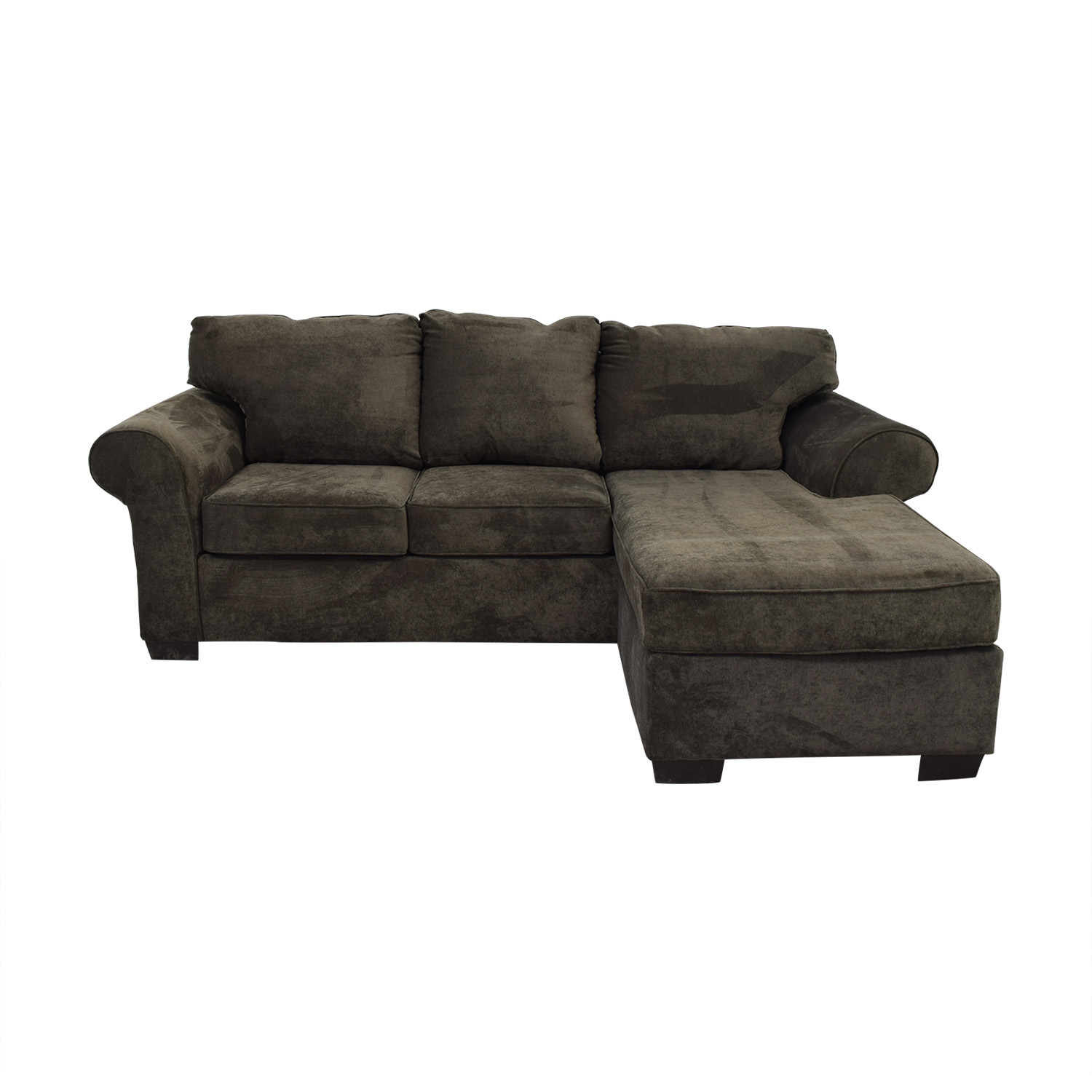 shop Raymour & Flanigan Grey Chaise Sectional Raymour & Flanigan Sofas