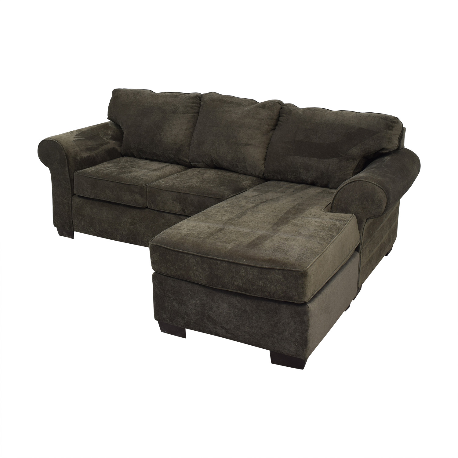 Raymour & Flanigan Raymour & Flanigan Grey Chaise Sectional price