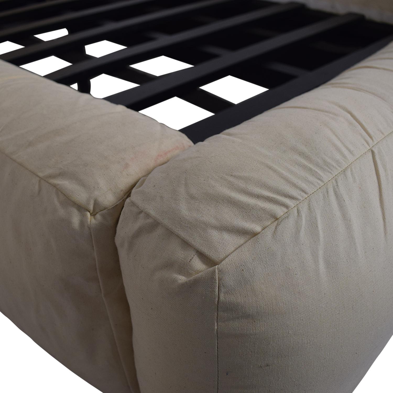 Restoration Hardware Restoration Hardware Sona Upholstered Platform Twin Bed discount