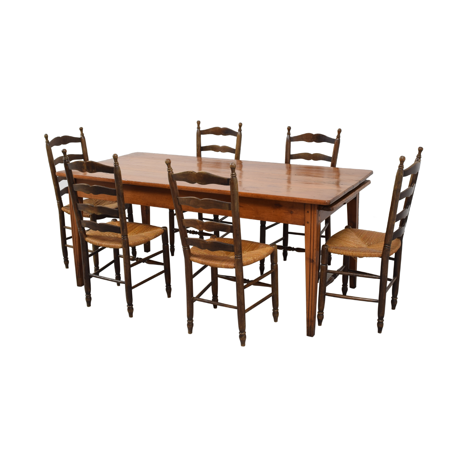 Wood Dining Set with Pullout Extension / Dining Sets