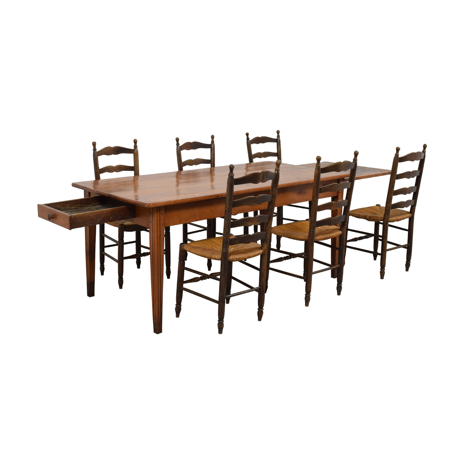 Wood Dining Set with Pullout Extension