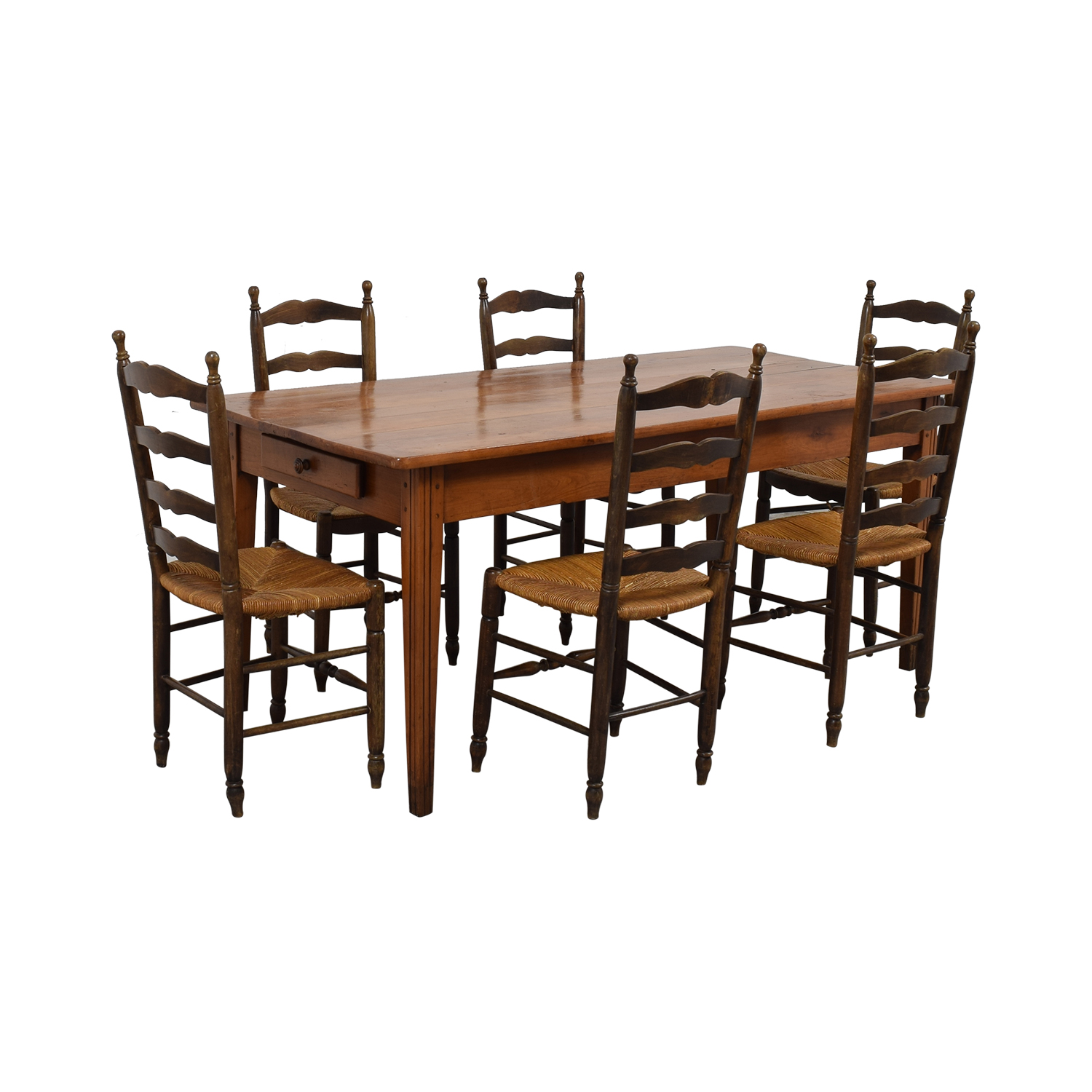 Wood Dining Set with Pullout Extension dimensions