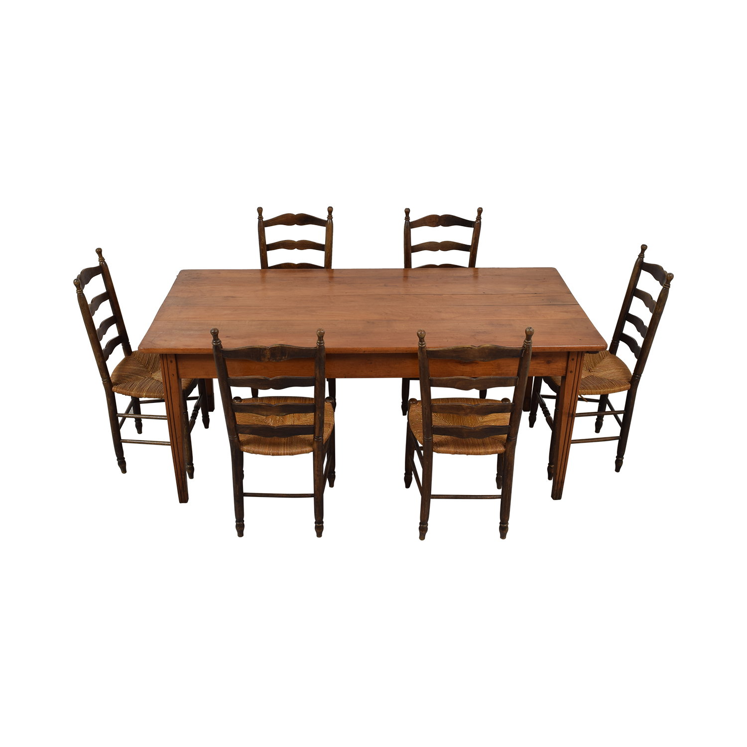 Wood Dining Set with Pullout Extension nj