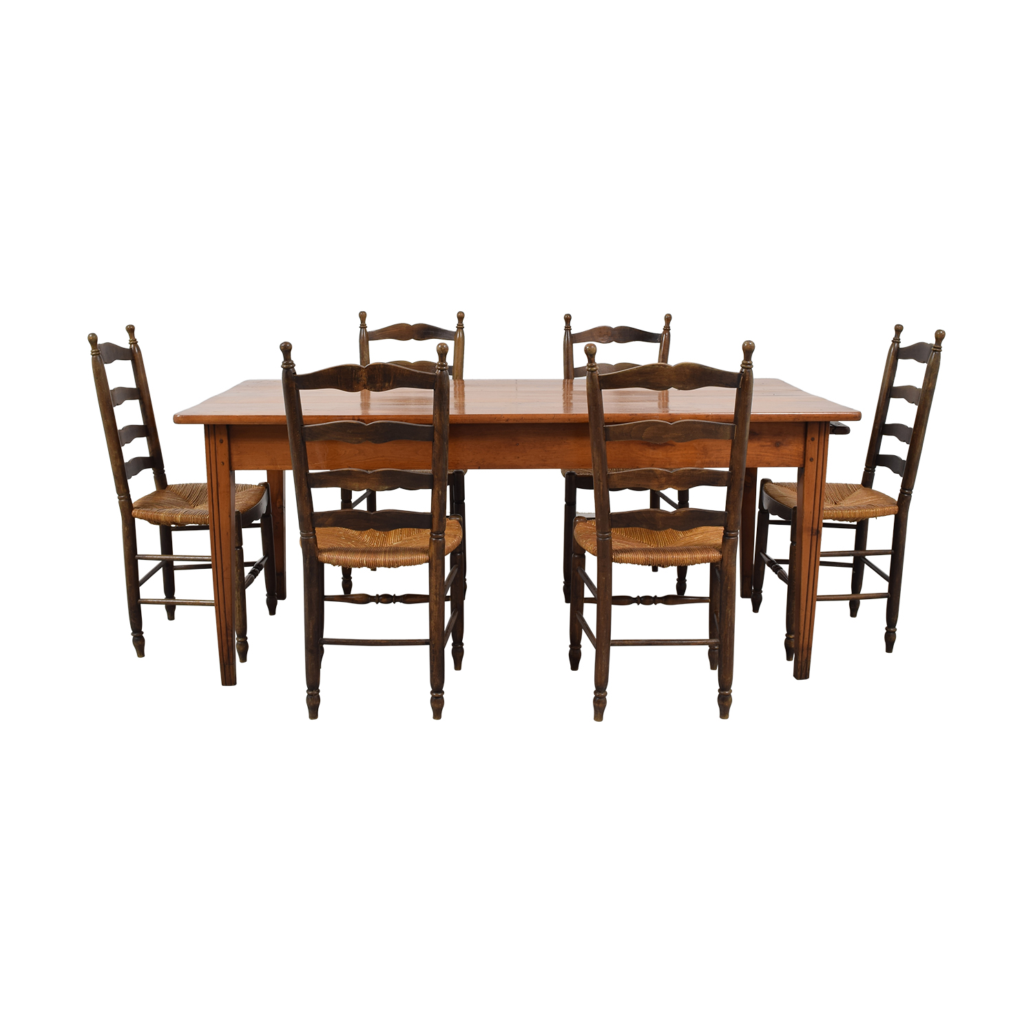 Wood Dining Set with Pullout Extension / Tables