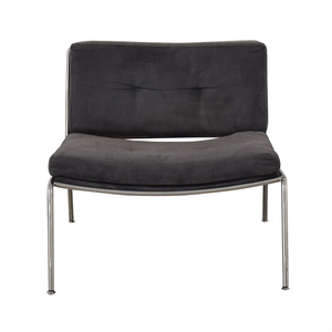 Modern Chrome Lounge Accent Chair nyc