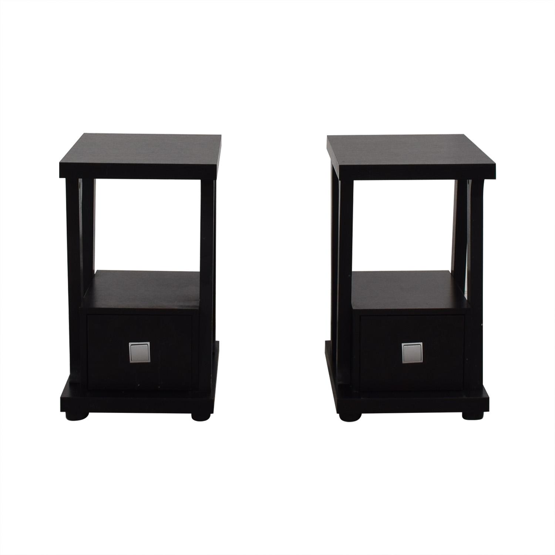 Black Single-Drawer End Tables price