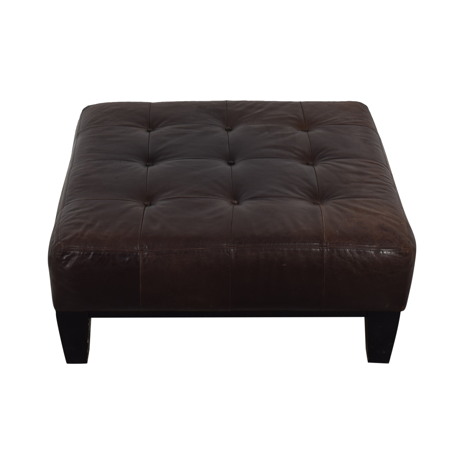 buy Pottery Barn Brown Tufted Ottoman Pottery Barn Ottomans