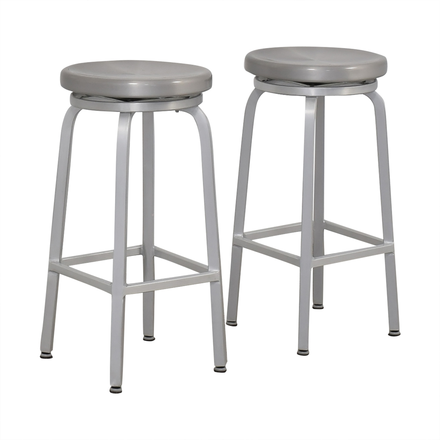 buy Crate & Barrel Stainless Steel Stools Crate & Barrel Chairs