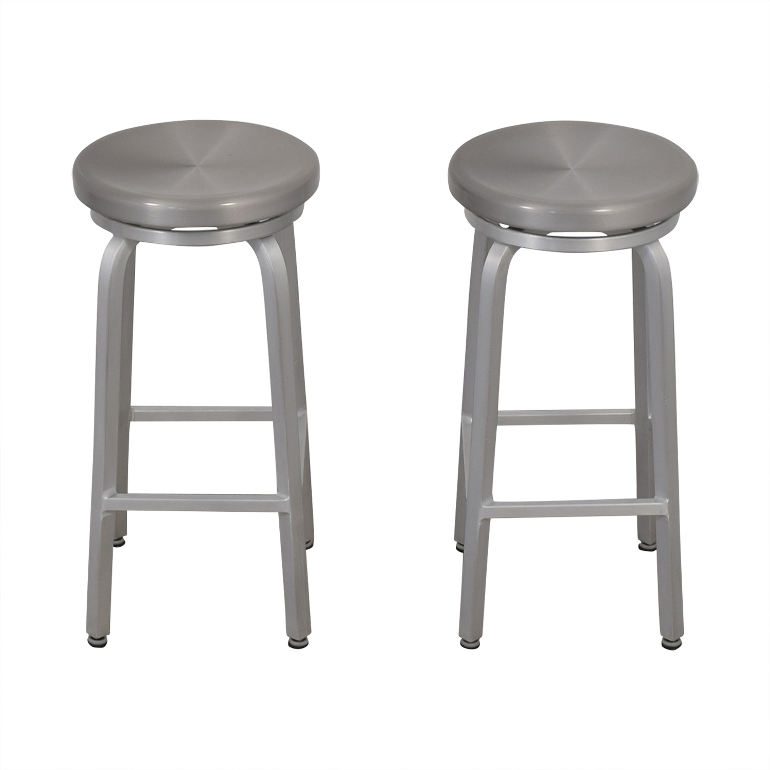 Crate & Barrel Crate & Barrel Stainless Steel Stools used