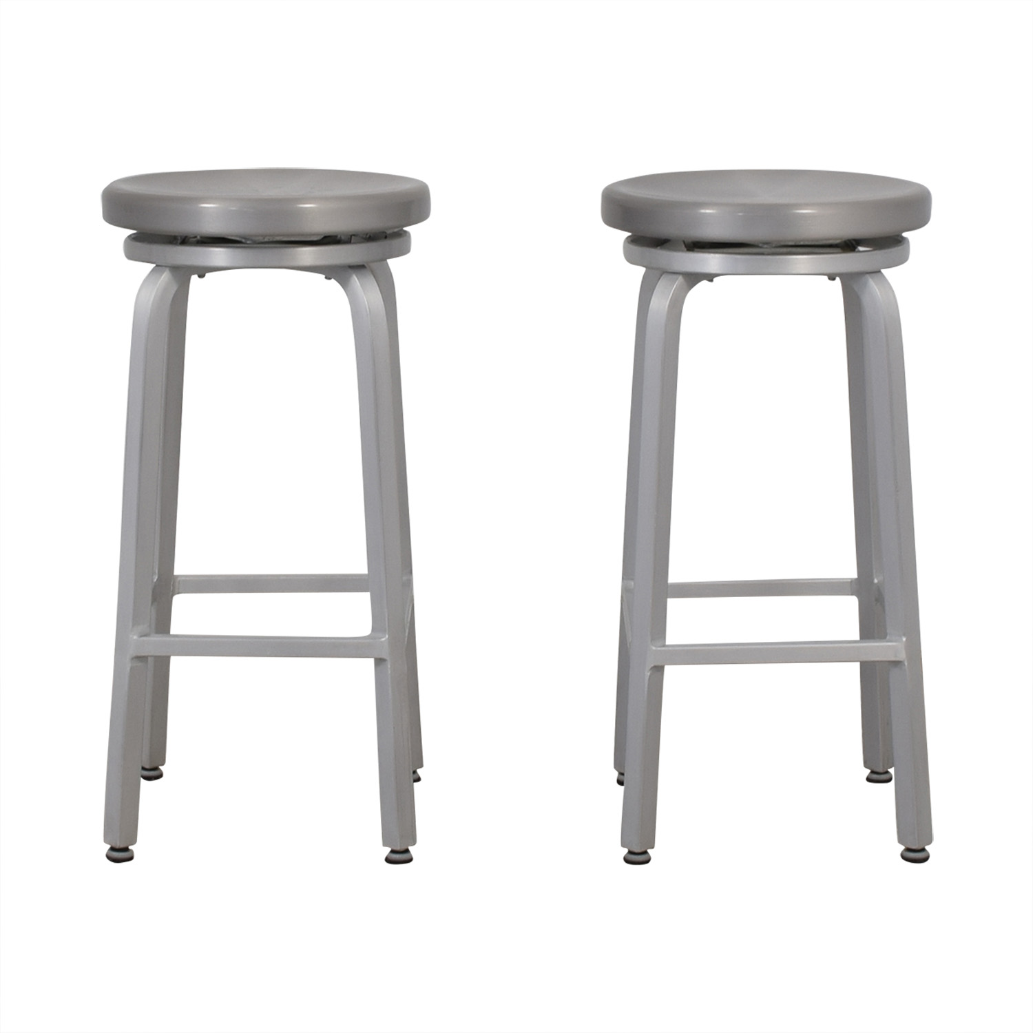 Crate & Barrel Crate & Barrel Stainless Steel Stools for sale