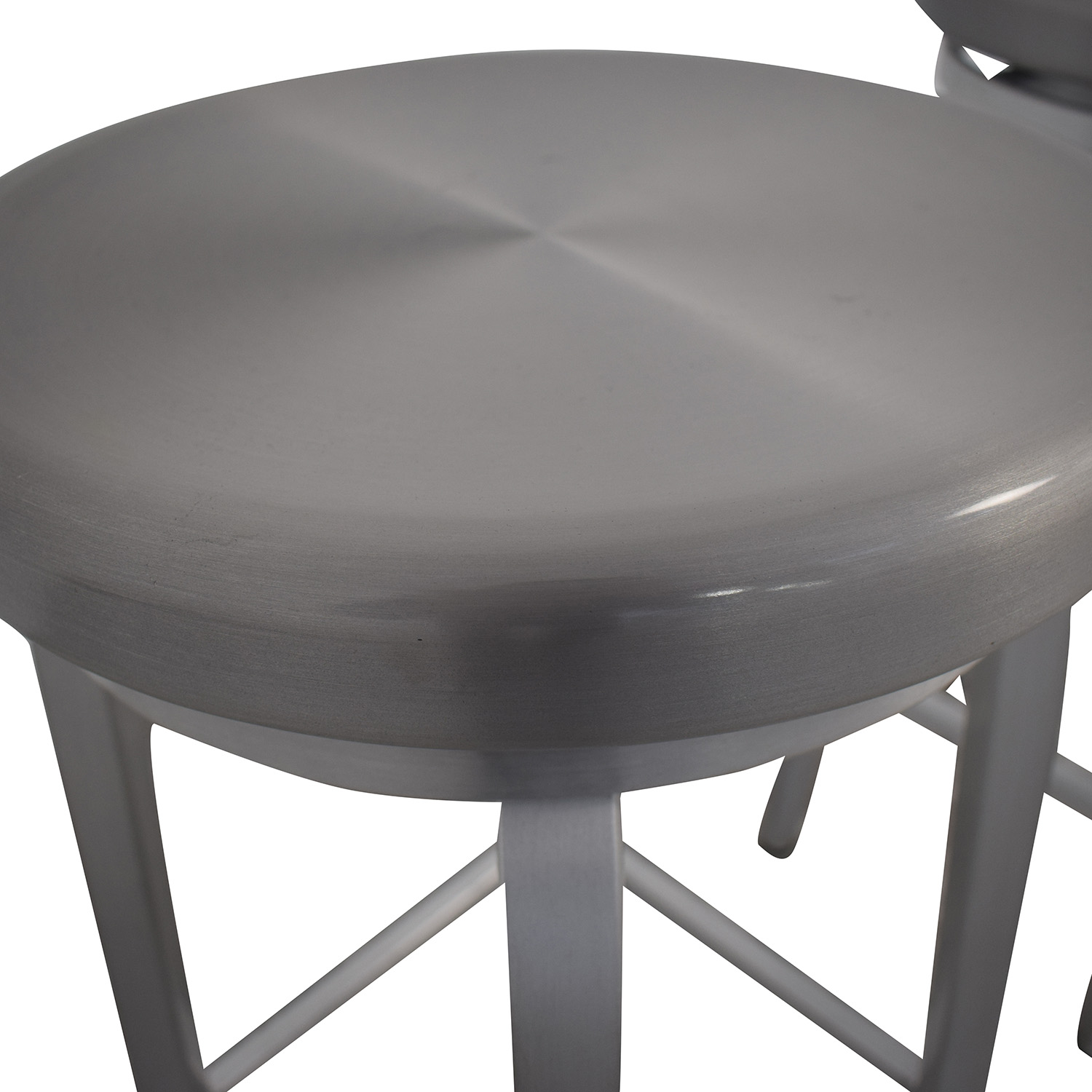 Crate & Barrel Stainless Steel Stools / Chairs