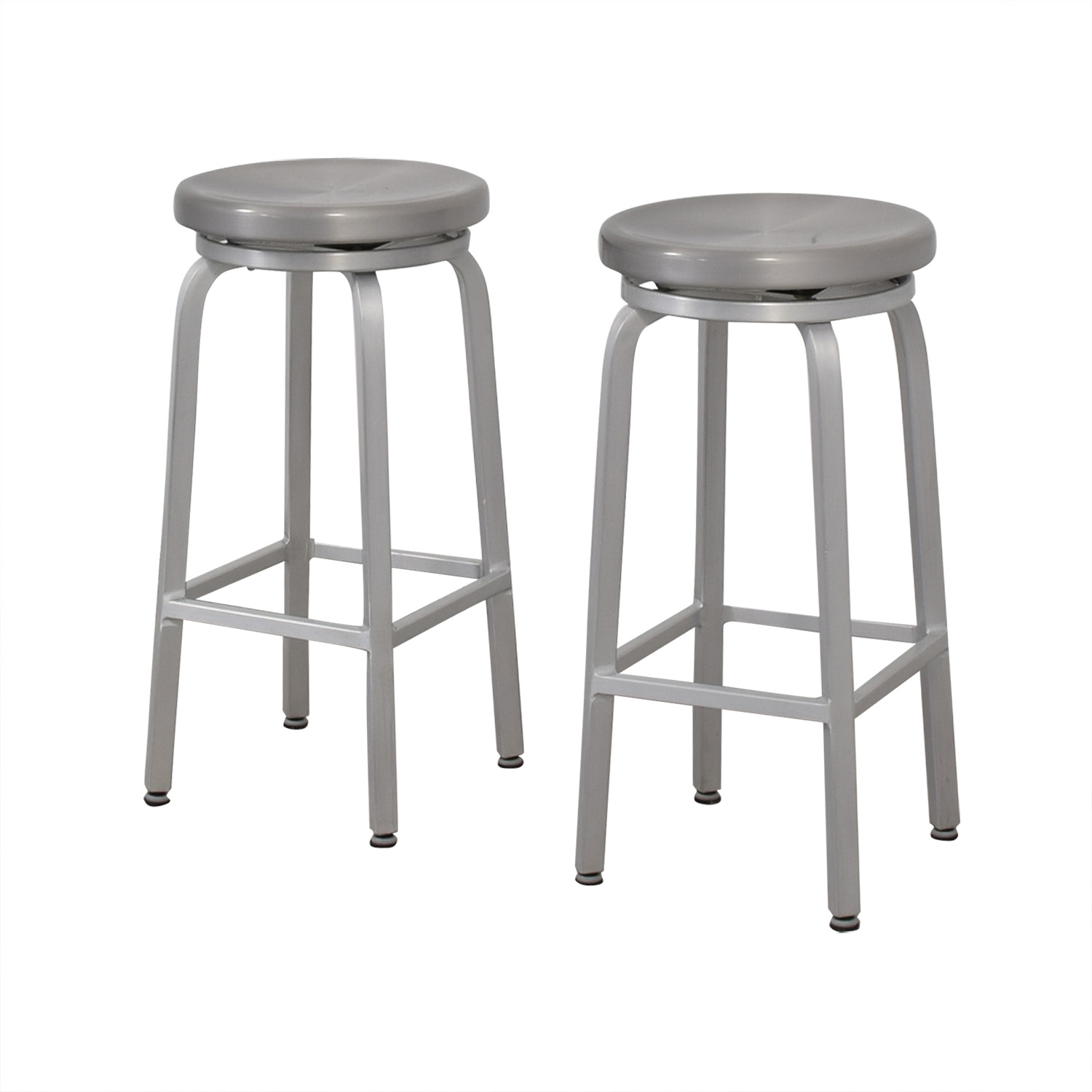 Crate & Barrel Crate & Barrel Stainless Steel Stools