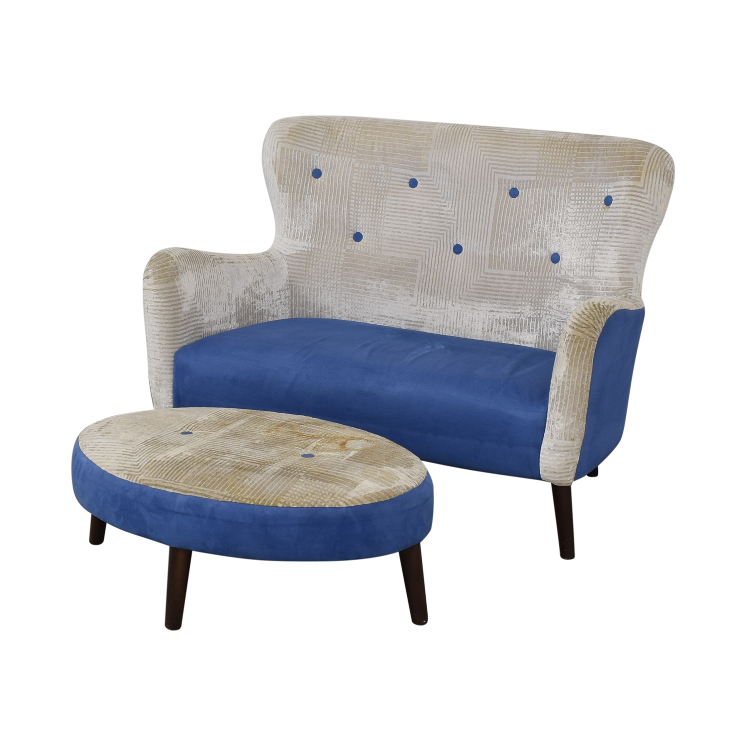 buy  Designers Guild Festival Club Sofa and Ottoman online
