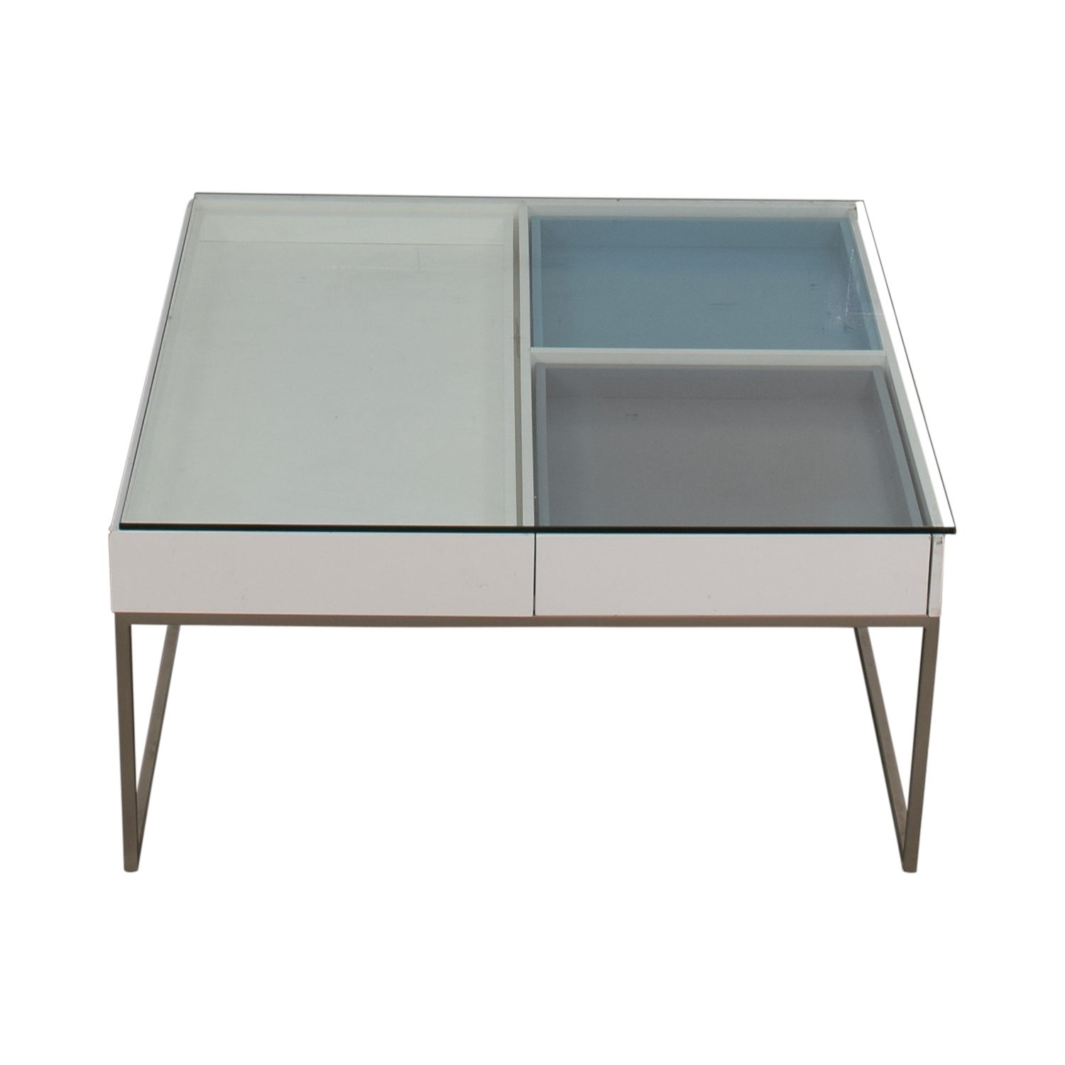 BoConcept BoConcept Chiva Glass and White Lacquered Coffee Table nyc