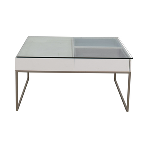 shop BoConcept BoConcept Chiva Glass and White Lacquered Coffee Table online
