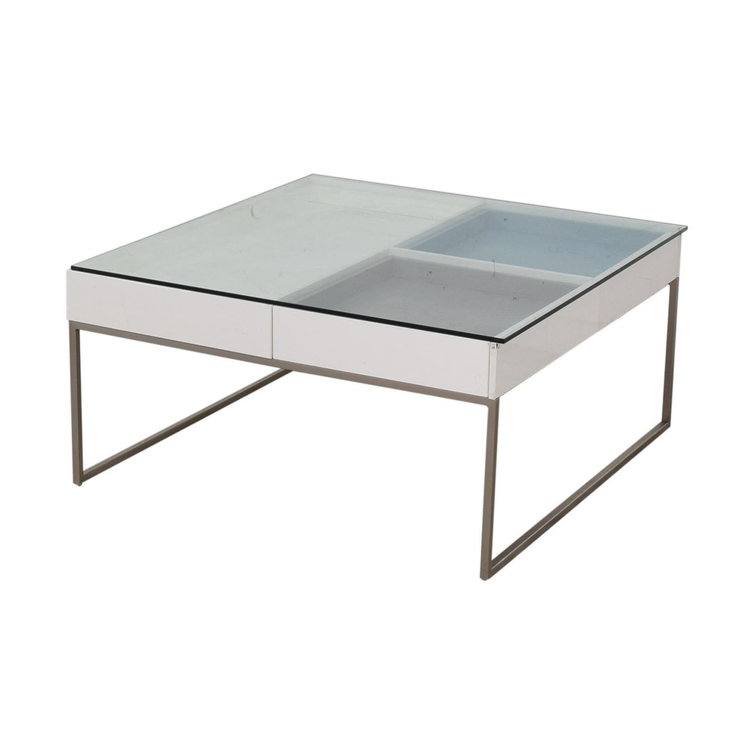 buy BoConcept BoConcept Chiva Glass and White Lacquered Coffee Table online