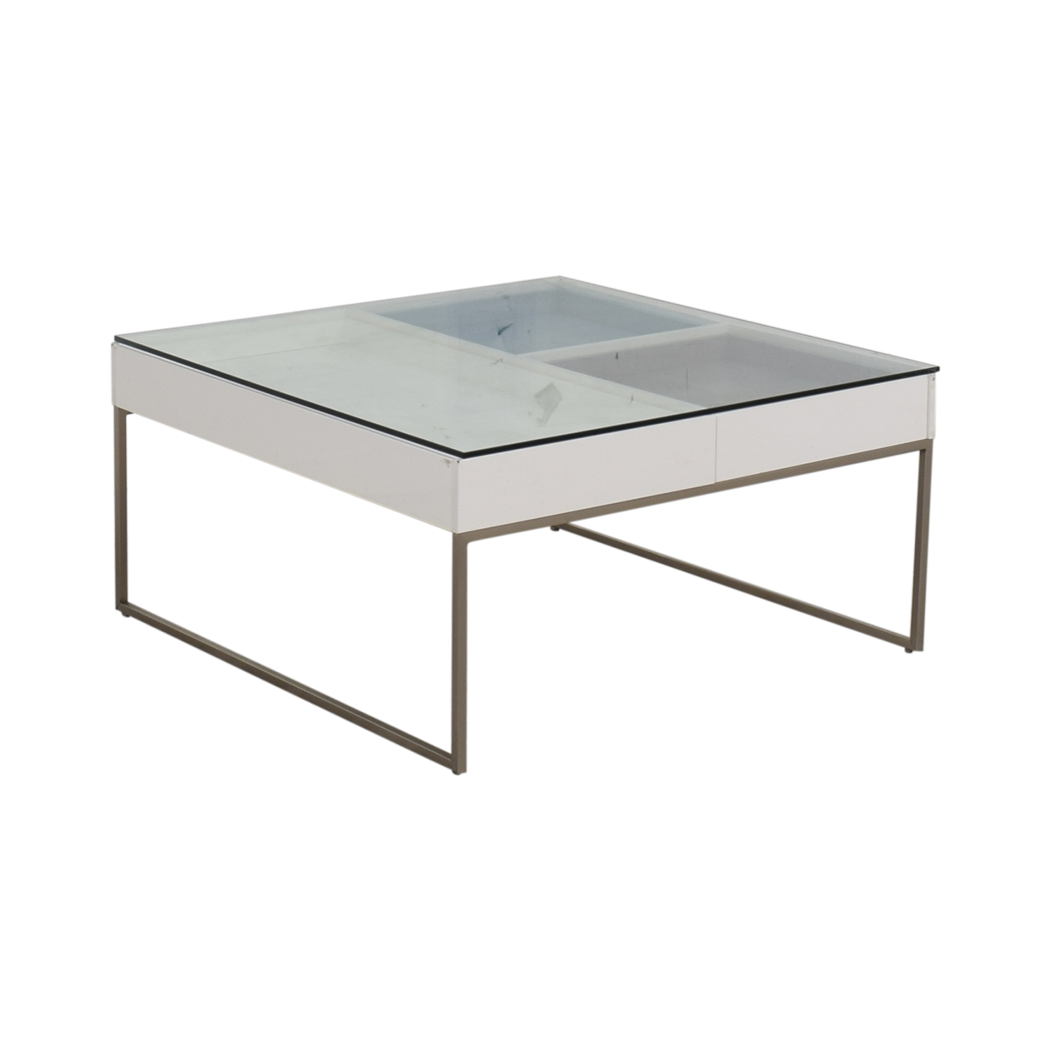 BoConcept BoConcept Chiva Glass and White Lacquered Coffee Table dimensions