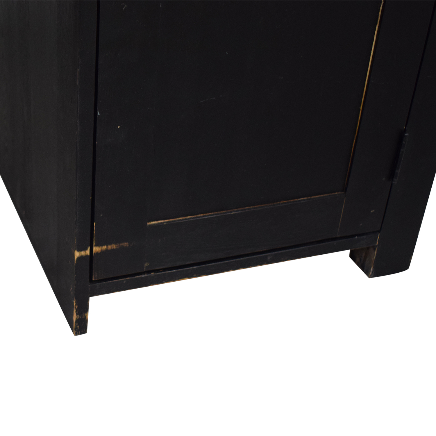shop Black Four Drawer Desk with Keyboard Tray and Storage  Tables