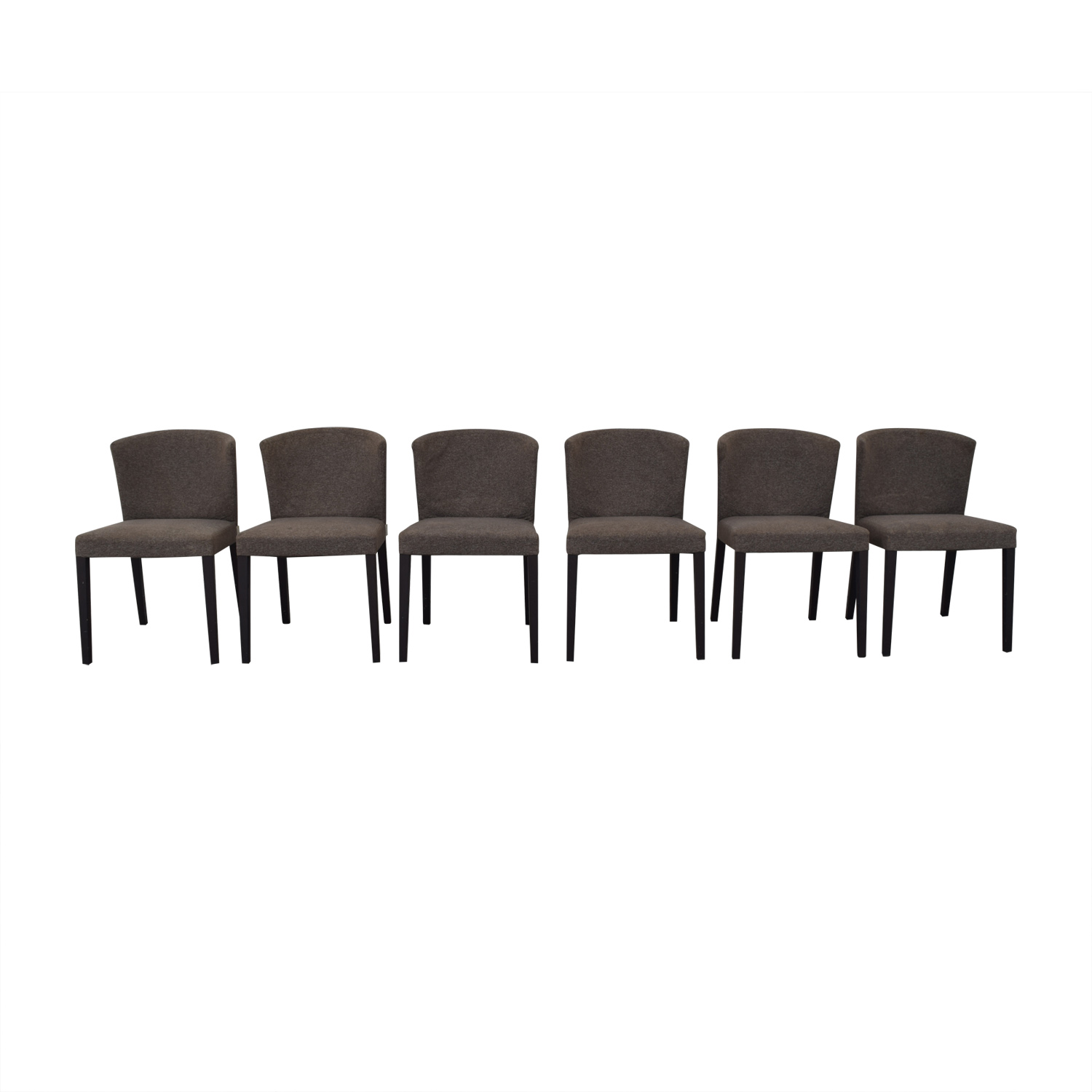 Heal's of London Heals of London Grey Upholstered Dining Chairs gray