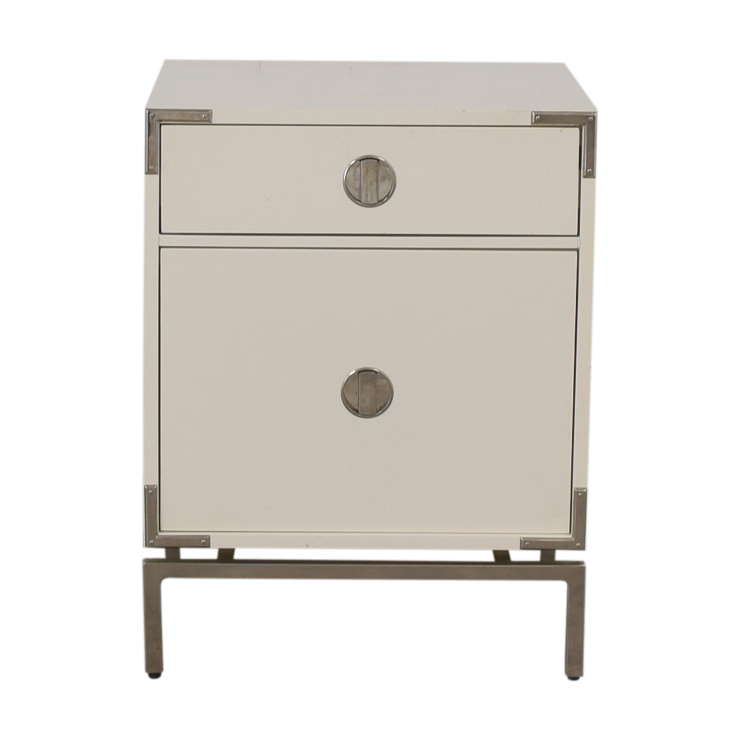 West Elm West Elm White Single-Drawer End Table coupon