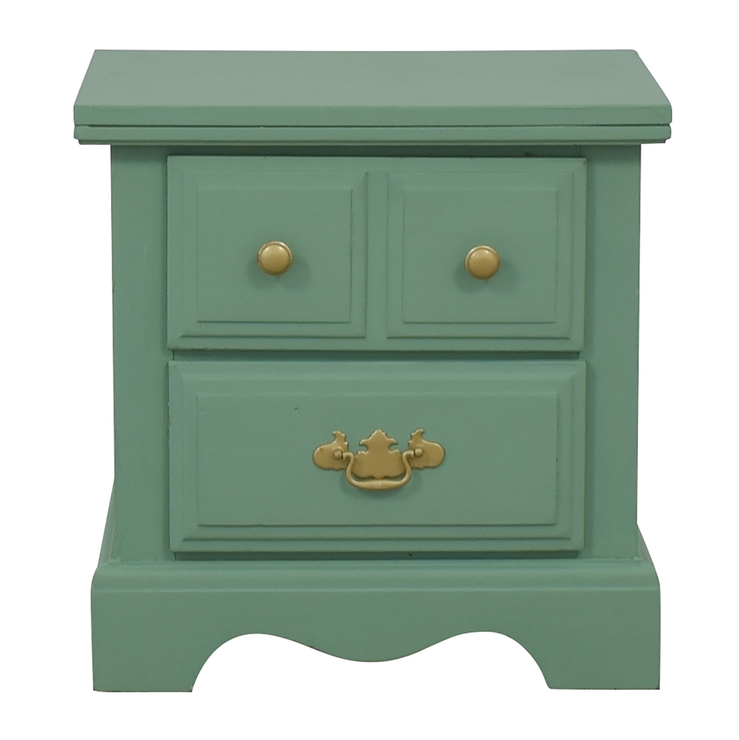 Green Two-Drawer Nighstand End Tables