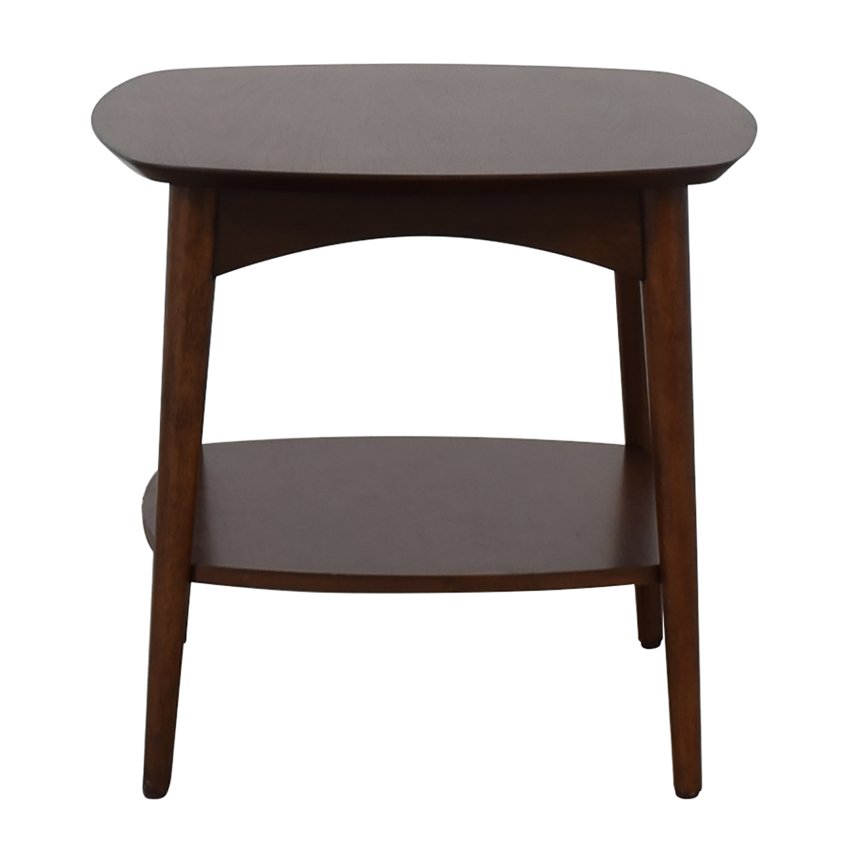shop World Market Brewston Walnut Wood Accent Table World Market End Tables