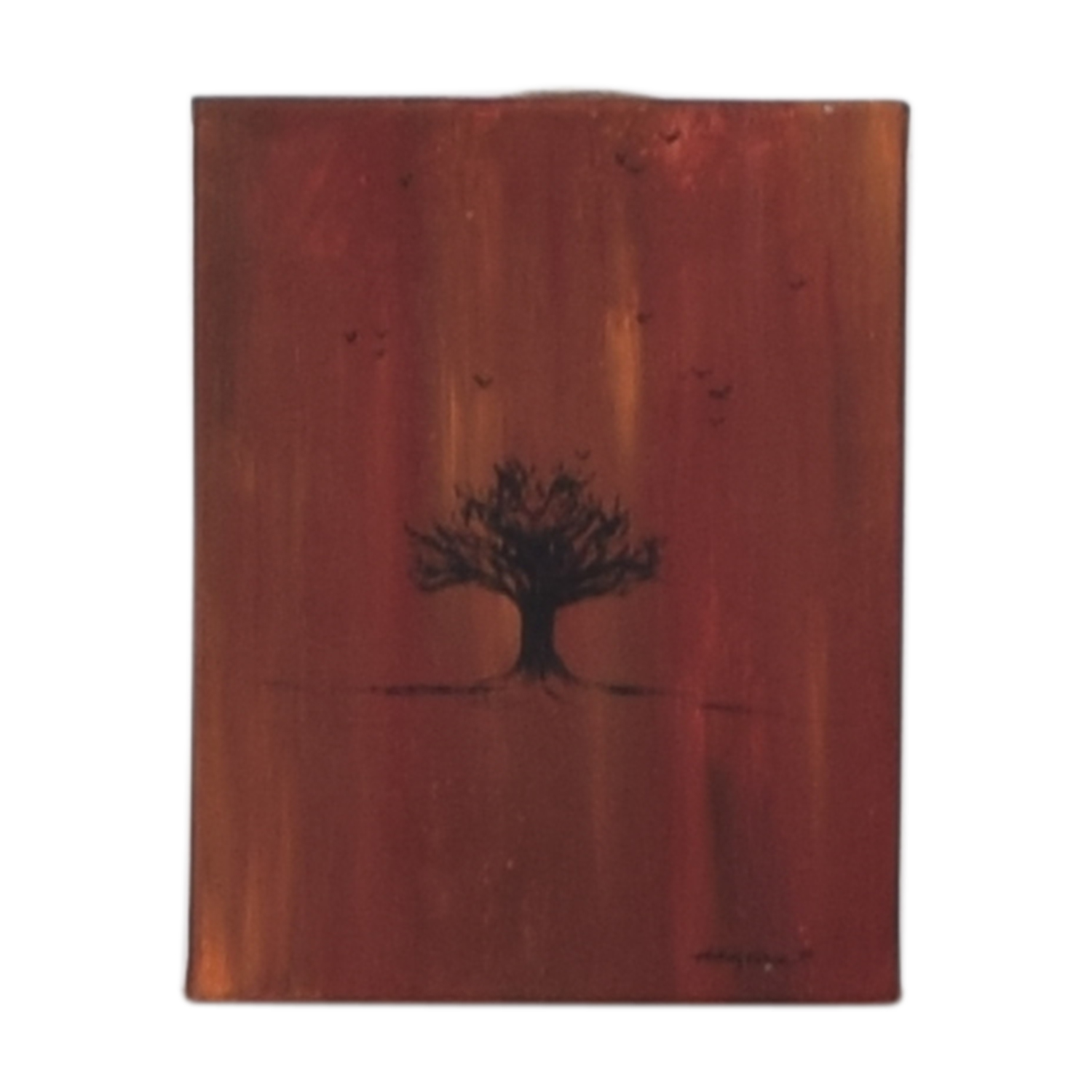 Anthony Gomez Red Tree with Bird Artwork / Decor